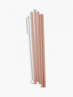 Ginger Ray Rose Gold Stainless Steel Straws