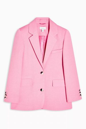 Pink Single Breasted Suit Blazer